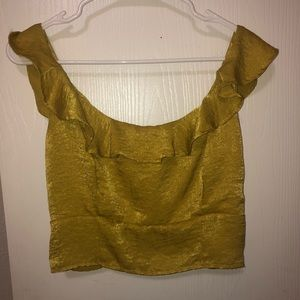 Yellow cotton on cropped top med